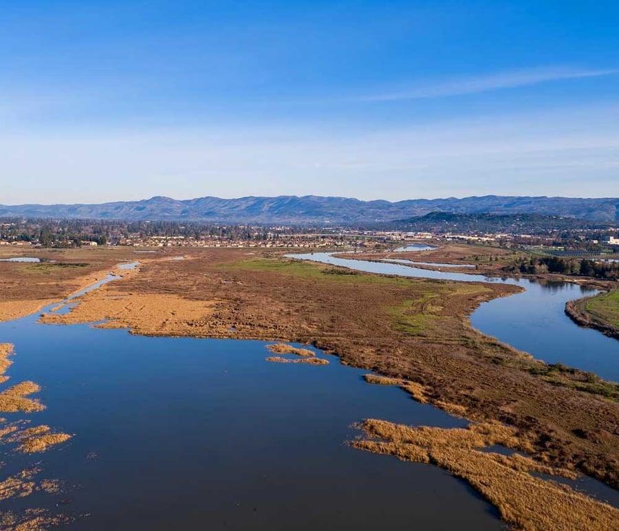 The Napa River near San Francisco Bay Area