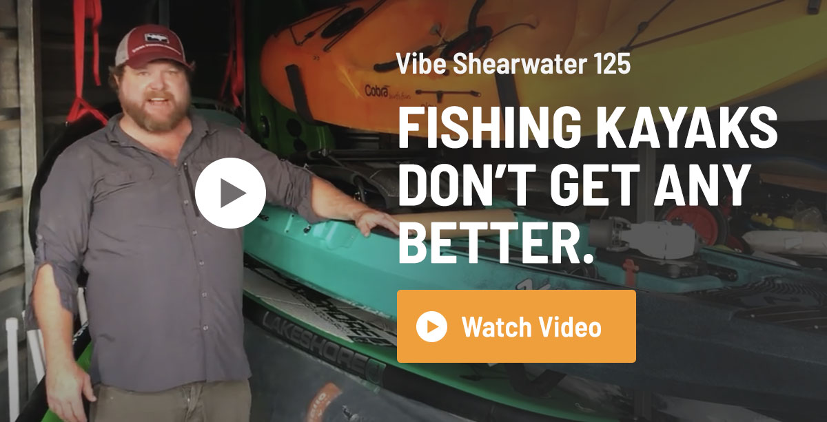 Vibe Shearwater 125 Fishing Kayak Review
